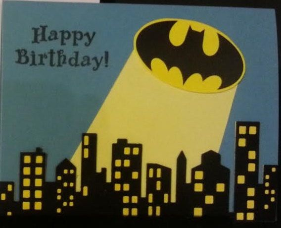 Batman Birthday Card By Lgartcardsncreations On Etsy With Images