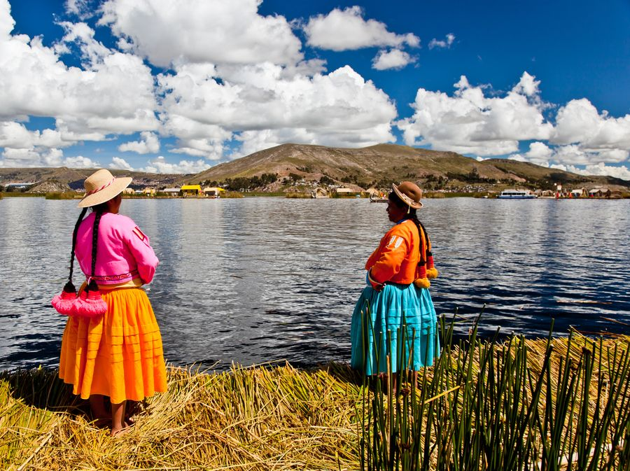 Lake Titicaca (Peru). 'Less a lake than a highland ocean, the Titicaca area is home to fantastical sights: floating islands made of totora reeds, pre-Columbian funerary towers and fertility temples full of stone phalluses.' http://www.lonelyplanet.com/peru/lake-titicaca
