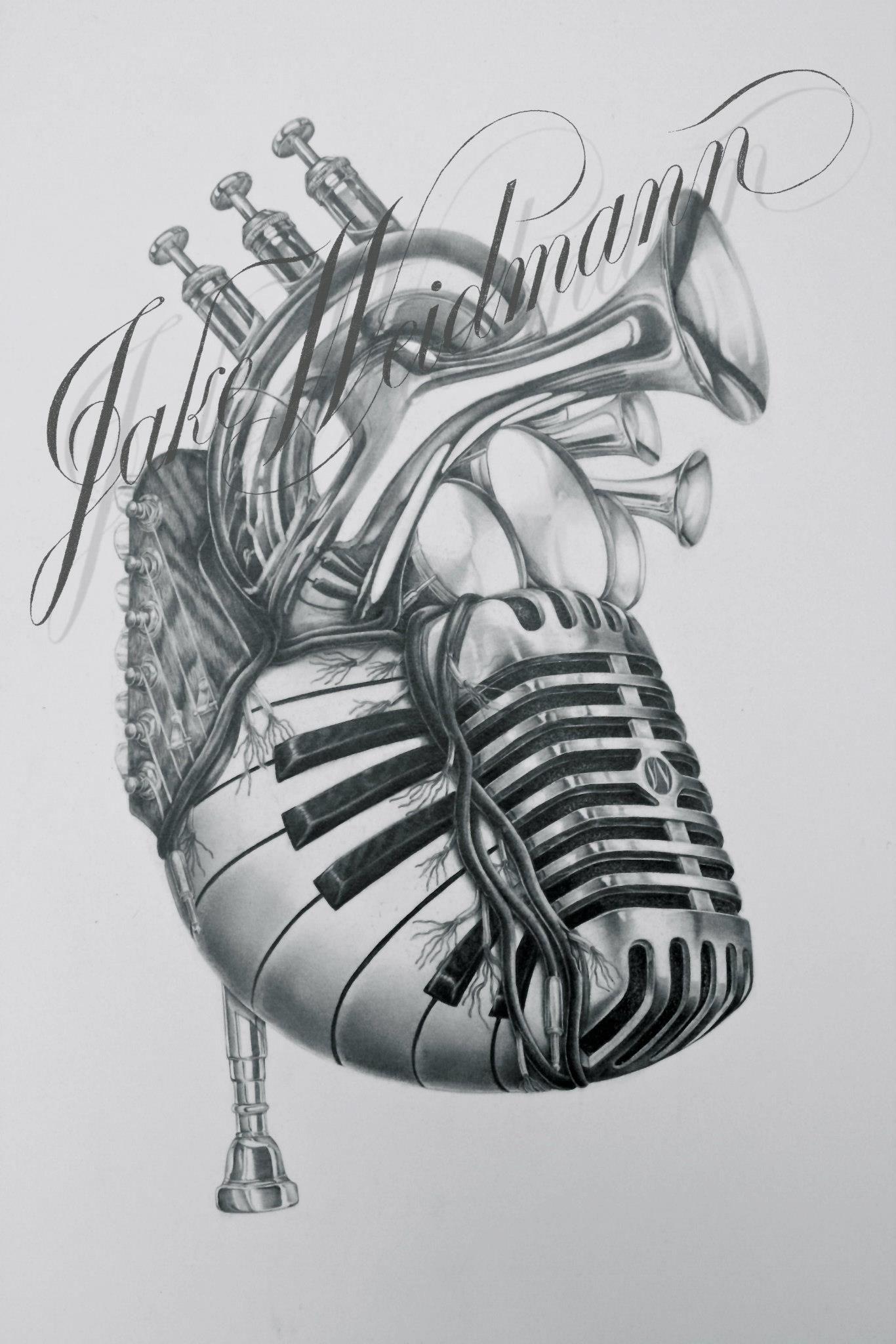 Pin Sarah St. Pierre Artsy Fartsy Music Tattoos Art
