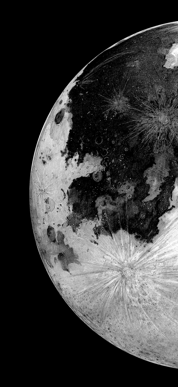 Moon Planet Amoled Dark Monochrome 1080p Wallpaper Hdwallpaper Desktop Dark Phone Wallpapers Black Hd Wallpaper Monochrome Wallpaper