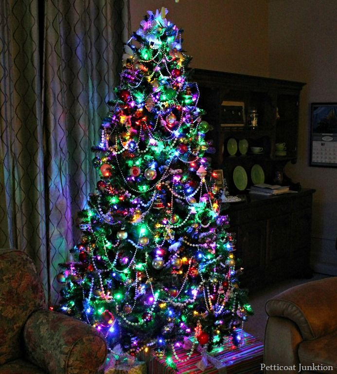 Clear Or Multi Color Christmas Tree