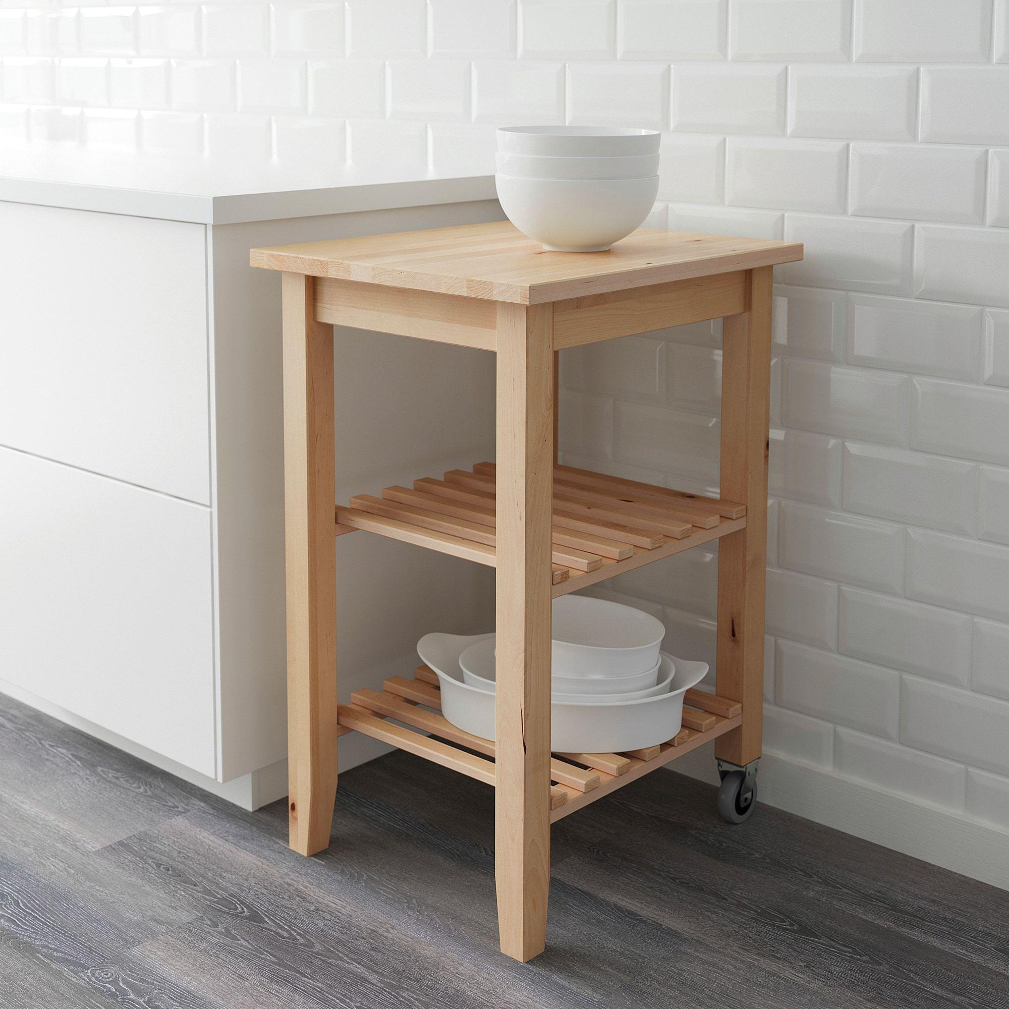 BEKVÄM birch, Kitchen trolley IKEA in 2020 Kitchen