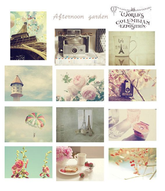 Paris Afternoon-Photography postcard set of 14