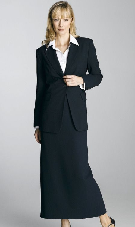 Very Pretty And Lovely Skirt Suit It Features Navy Blue Skirt