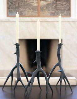 Exceptional Bronze Antler Candlesticks   Candles And Candle Holders   By Forma Living Nice Look