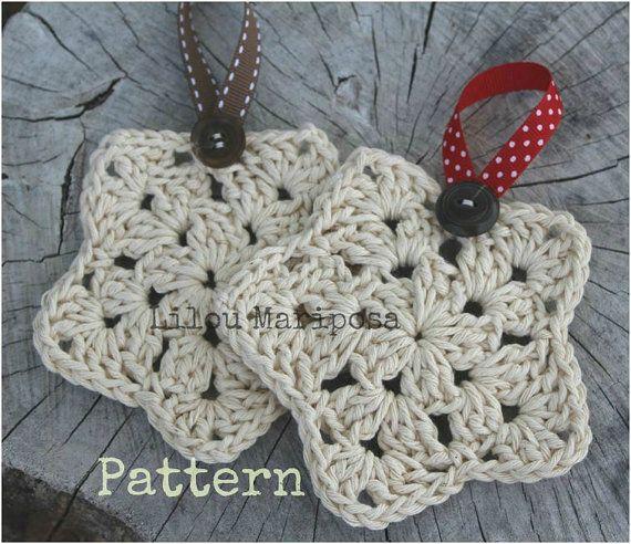 Patron pdf crochet estrella para por liloumariposa en etsy navidad pinterest adornos de Adornos a ganchillo