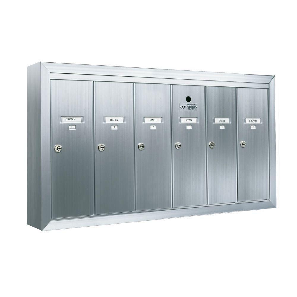1250 Vertical Series 3-Compartment Aluminum Surface-Mount Mailbox ...