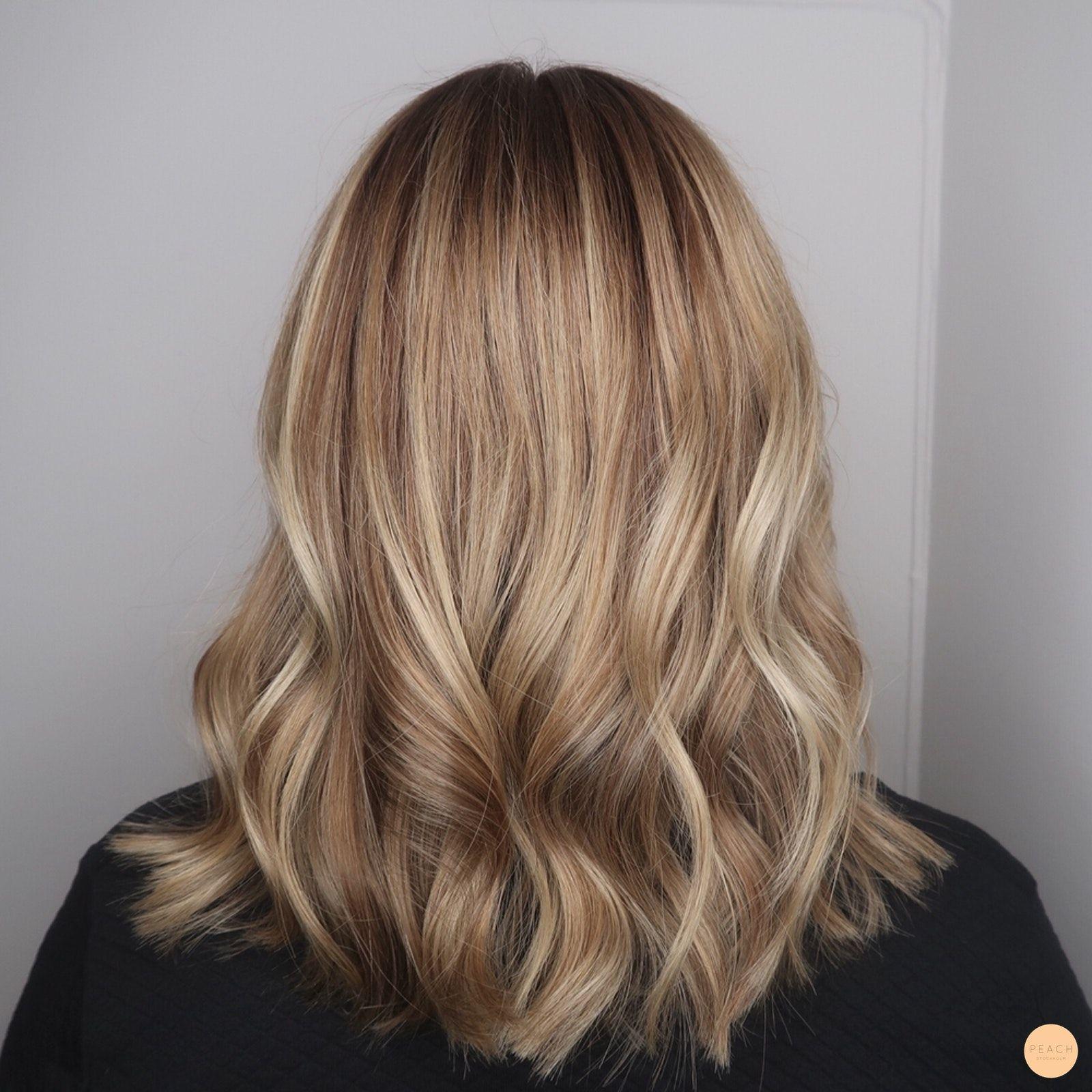 brun blonda slingor