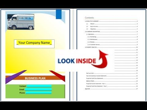The Food Truck Business Plan Template is a high quality hybrid - business plans template