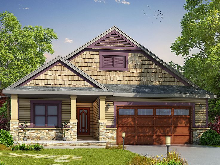 031H-0271: Empty-Nester House Plan; 2 Bedrooms, 2.5 Baths   Empty ...