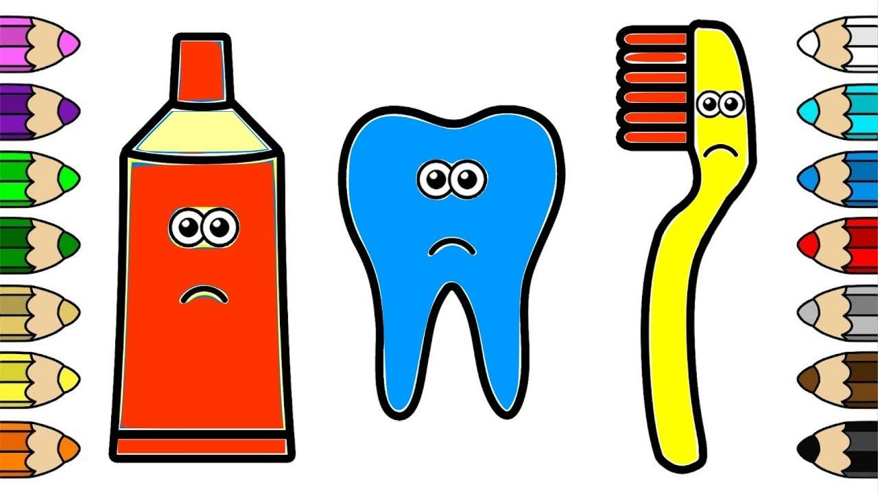 Coloring For Baby Toothpaste Toothbrush And Teeth Coloring Pages