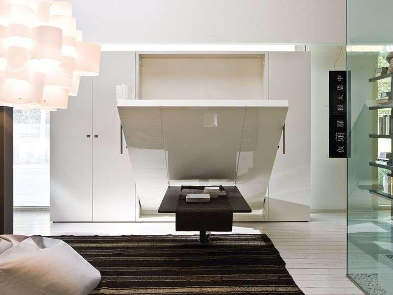 Letti A Scomparsa Di Design.Arredi Trasformabili Salvaspazio Decor Office Bedroom Letto