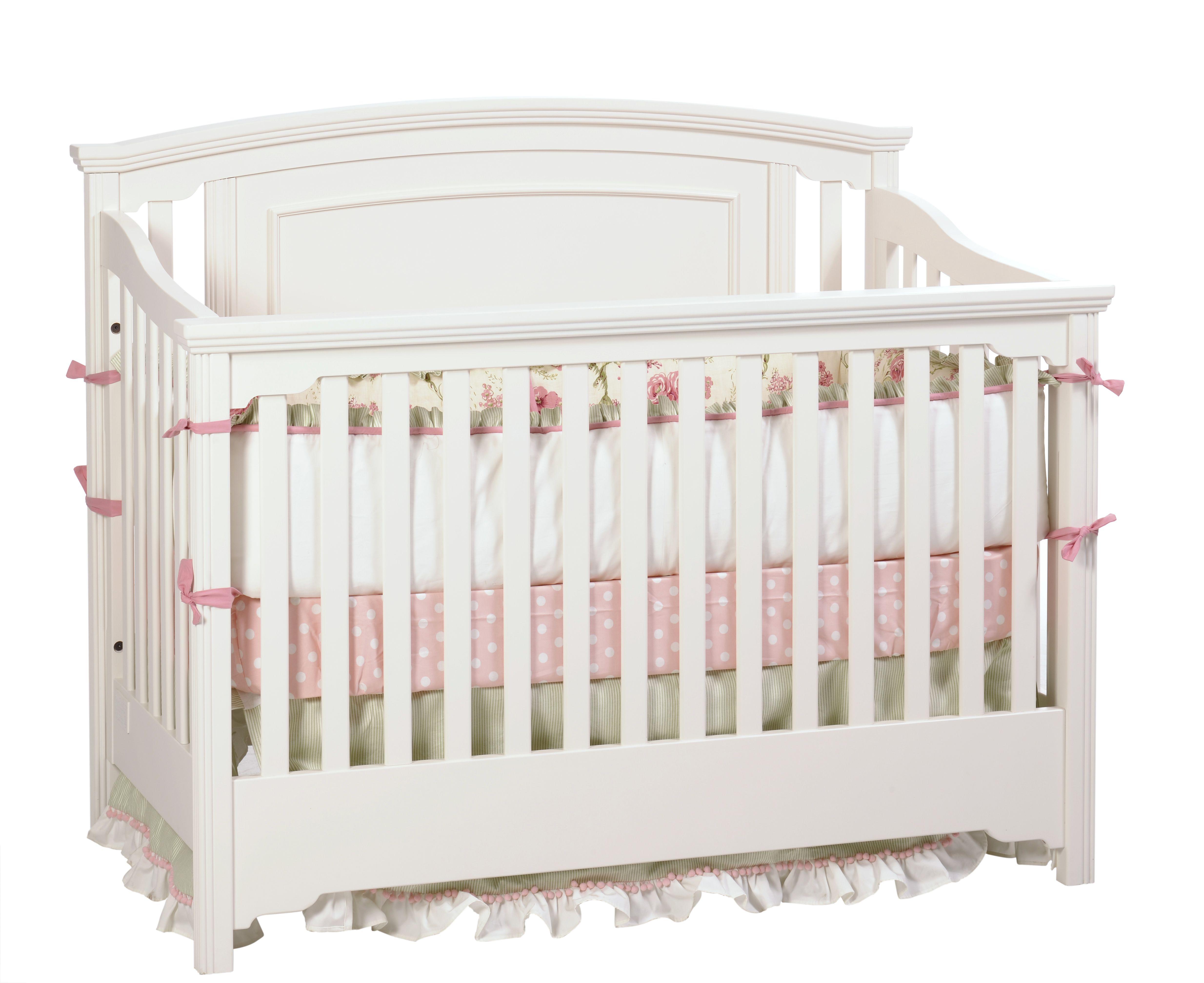 capretti design s veneto crib in snowdrift crib converts into a