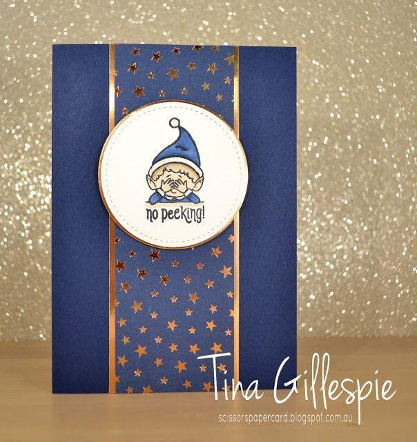 Stampin 'Up! #elfie   Scherenpapierkarte: AWH HOC Woche 1  - Weihnachtskarten - #39Up #AWH #elfie #HOC #Scherenpapierkarte #Stampin #Weihnachtskarten #Woche #stampinupcards