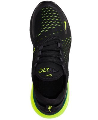 Nike Boys  Air Max 270 Casual Sneakers from Finish Line - Black 7 ... ed589d9fe951