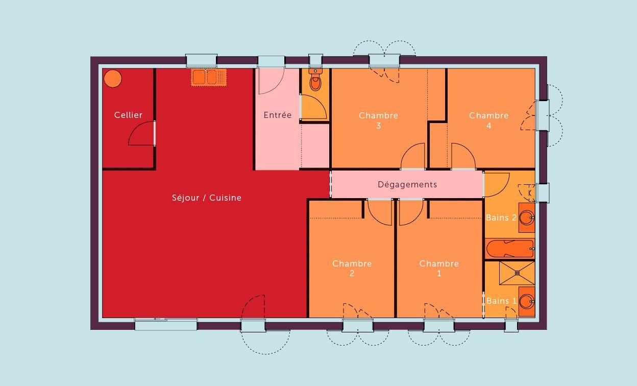 image issue du site web httpwwwvillaspeosfrwp contentuploads201406muscatine1jpg maisons pinterest du site site web et le site - Plan De Maison De 80m2 Plein Pied