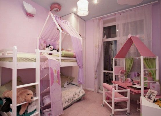 girly-girl room bunk beds | princess castle inspired bunk bed