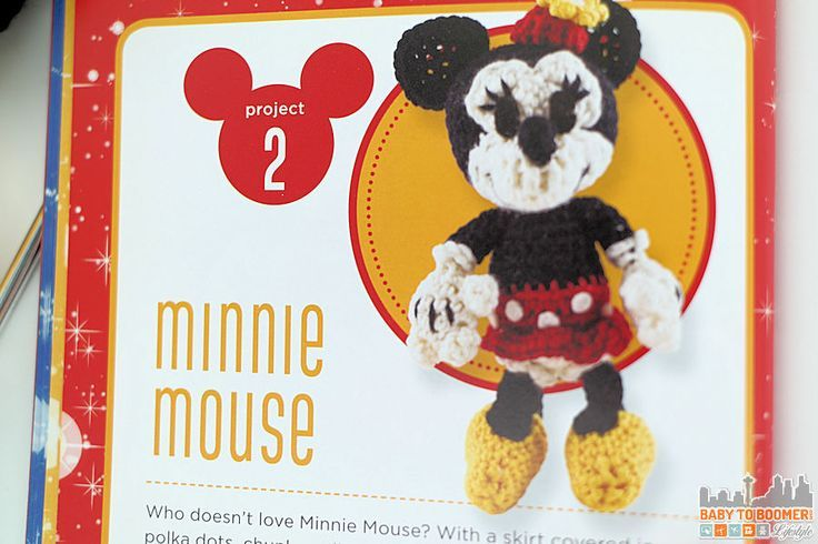 Project 2 - MInnie Mouse - Classic Disney Crochet Patterns and Kit - 12 Characters! ad