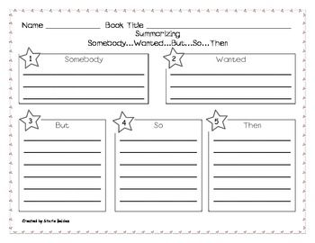 Worksheets Summary Worksheets 5th Grade somebody wanted but so then summarizing worksheet stories by storie teacherspayteachers com