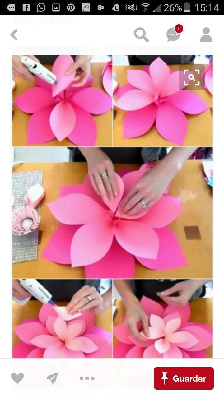 Riesige Papierblume zum Dekorieren aus Krepppapier für 10 Stück … – DIY Papier Blog
