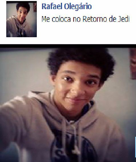 Rafael adora Star Wars e queria entrar naquele universo.