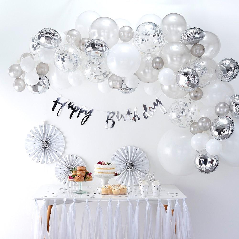 Balloon Arch Kit - Silver Arrangement #balloonarch