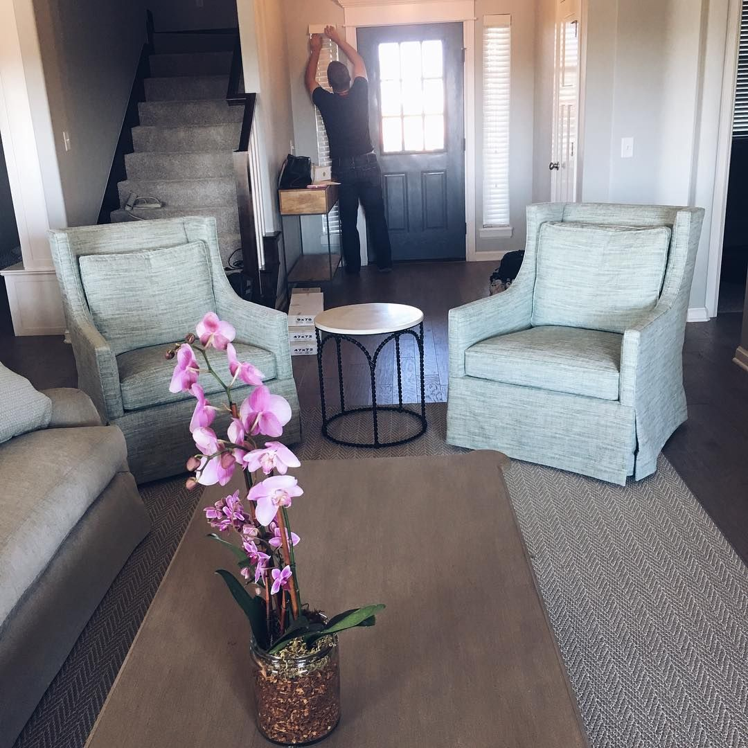 Gorgeous Swivel Chairs From Last Weeks Install 30ahome Designby30a Okc Swivel Chair Home Interior Designers