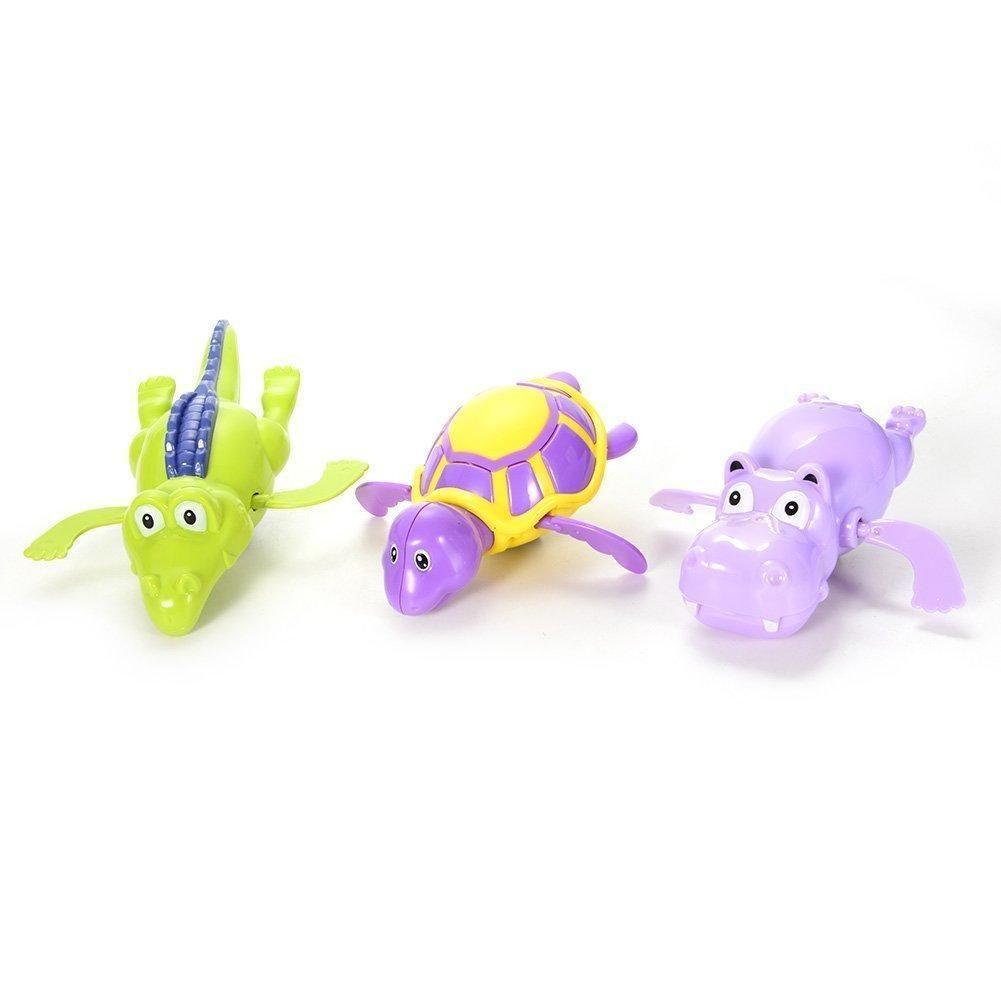 Acekid Baby Pool Wind Up Bath Toys Cartoon Animal Swimming Tub ...