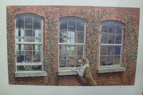 $89.99  James Lumbers Echoes OF Education Signed Limited Edition Print | eBay #dog #pets #walldecor
