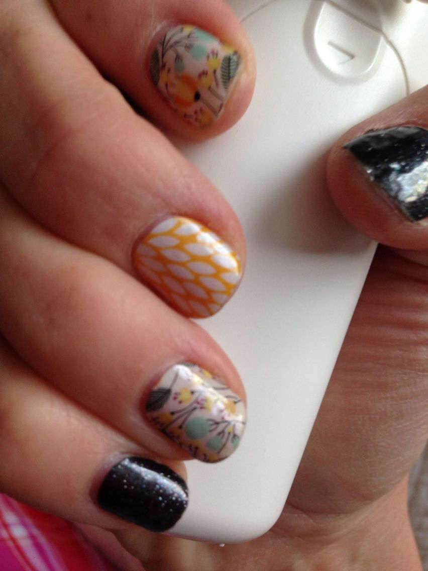 My Jamberry Nails!  I LOVE them and can't get enough, but that's not a problem with 300+ designs!  Do you want to do your nails at home in about 15 minutes with your hair dryer? Have a peek and order through  my website at www.nickyng.jamberrynails.net #sweetwhimsy #sunnylotus #jamberrynails