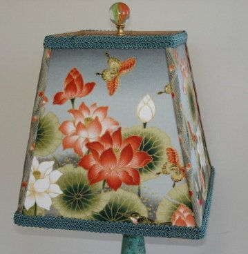 Asian decor asian lamp shade zen garden oriental lamp shade japanese floral lamp shade oriental flowers by ashadefancier 5500 mozeypictures Image collections