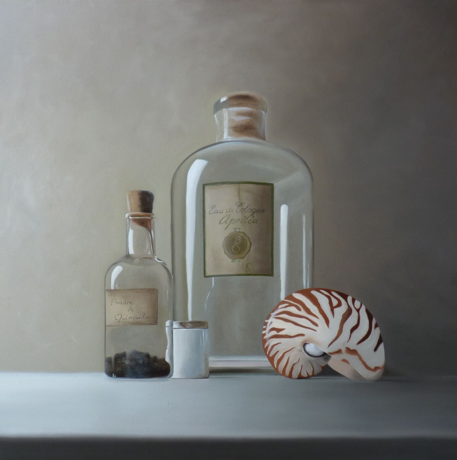 Nautile [Huile sur toile, 70 x 70 cm]