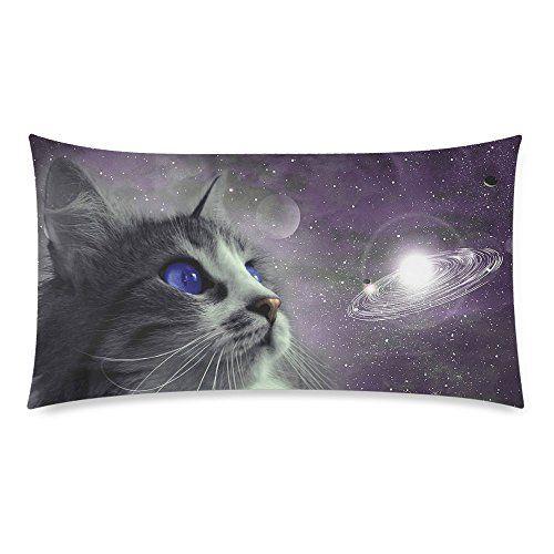 Galaxy Space Cats Throw Pillowcase