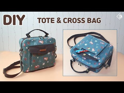 Photo of DIY SIMPLE MINI TOTE & CROSSBODY BAG/ Make a cloth bag / sewing tutorial [Tendersmile Handmade]