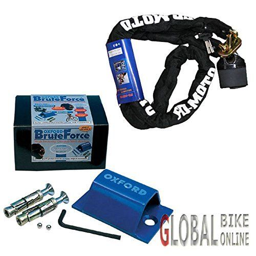FD-MOTO Moto Motocyclette cadenas cadenas cadenas + Oxford OF439 Force Ancre * Vendu sécurisé *: Une chaîne de qualité professionnelle et…