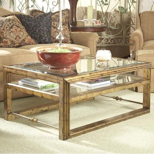 Westview Rectangular Cocktail Table With Glass Top And