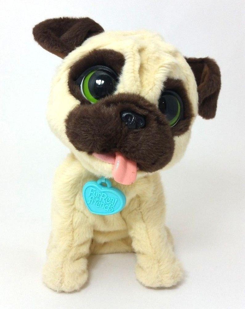 Fur Real Friends Jj The Jumping Pug Interactive Dog Hasbro 2014