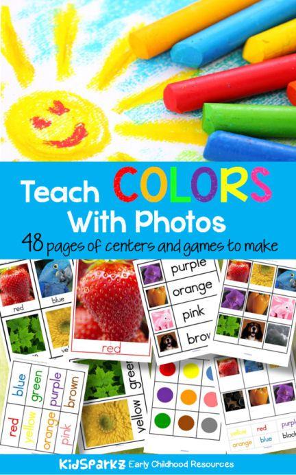 Teach Colors With Photos | Activities, Preschool colors ...