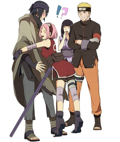 Саске и Сакура... Хината и Наруто... | Наруто узумаки ...