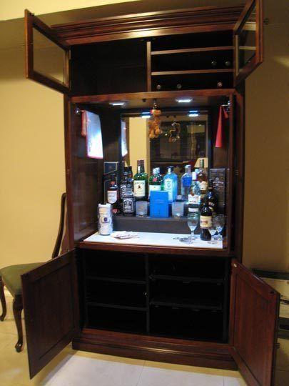 Delicieux Repurposed TV Armoire, Into Liquor Cabinet