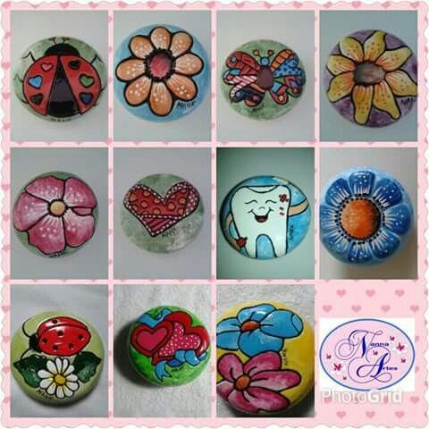 Bem-vindos ao mundo da Nanna Artes! Sabonetes pintados a mão!!!