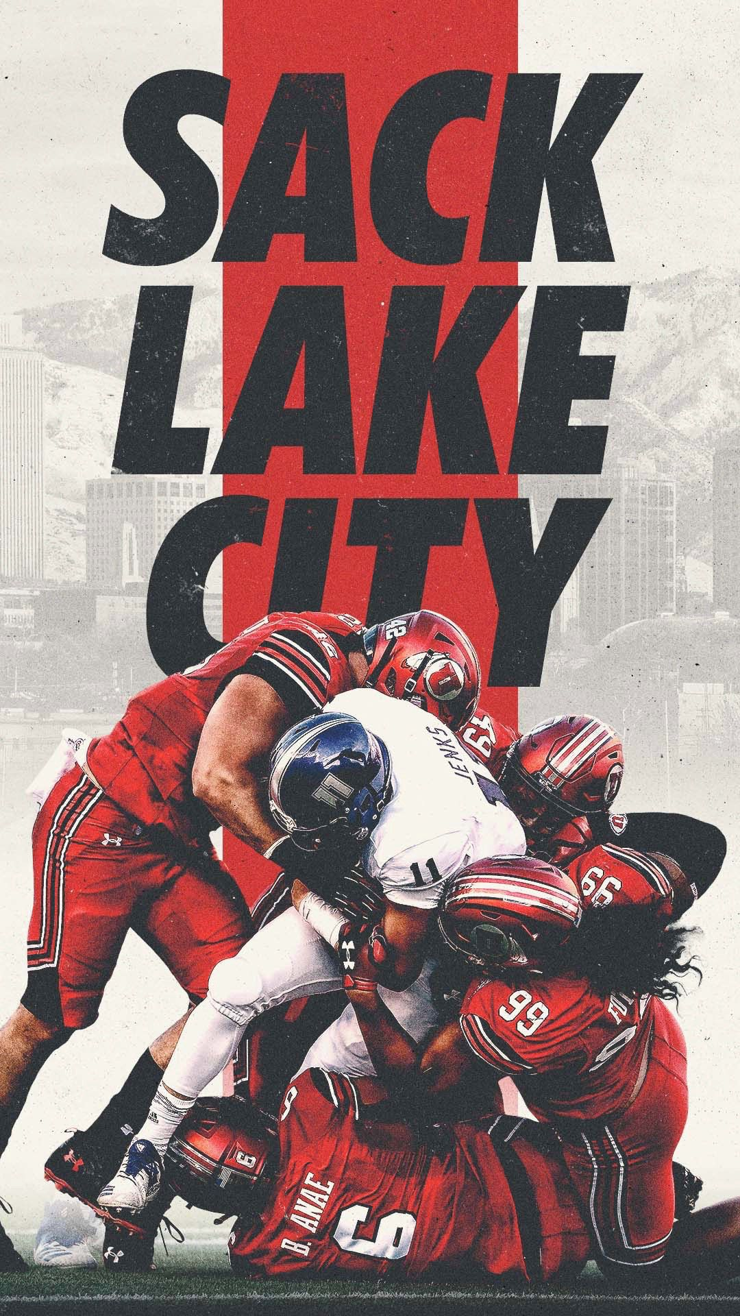 Utah Utes Sack Lake City Lockscreens On Behance Sports Graphic Design Sports Design Inspiration Sport Poster Design