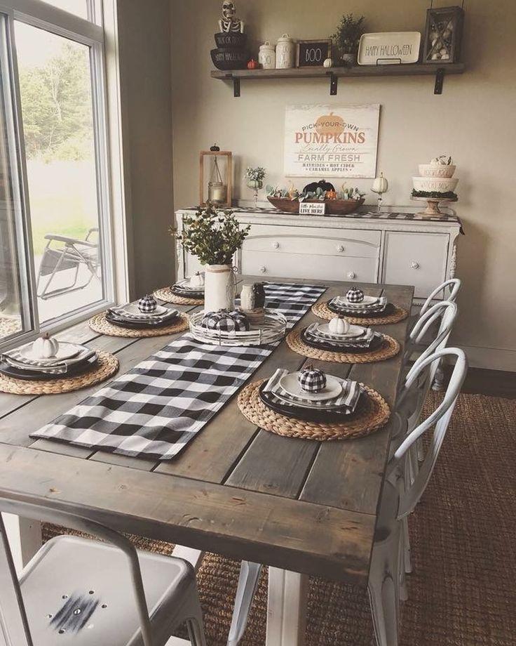 53 Cool Farmhouse Dining Room Decor Ideas images