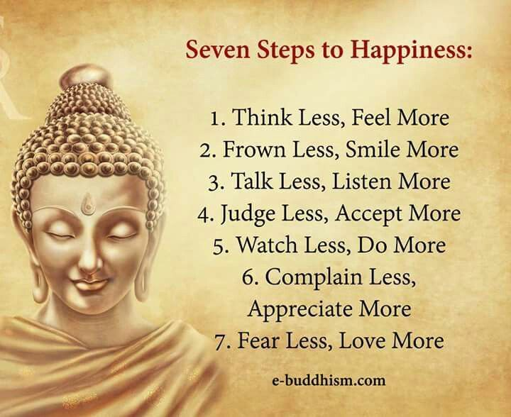 Seven Steps To Happiness.
