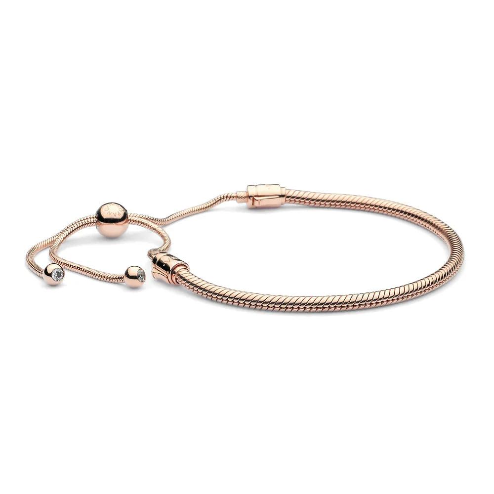 Pandora Moments Snake Chain Slider Bracelet in 2021   Snake chain ...
