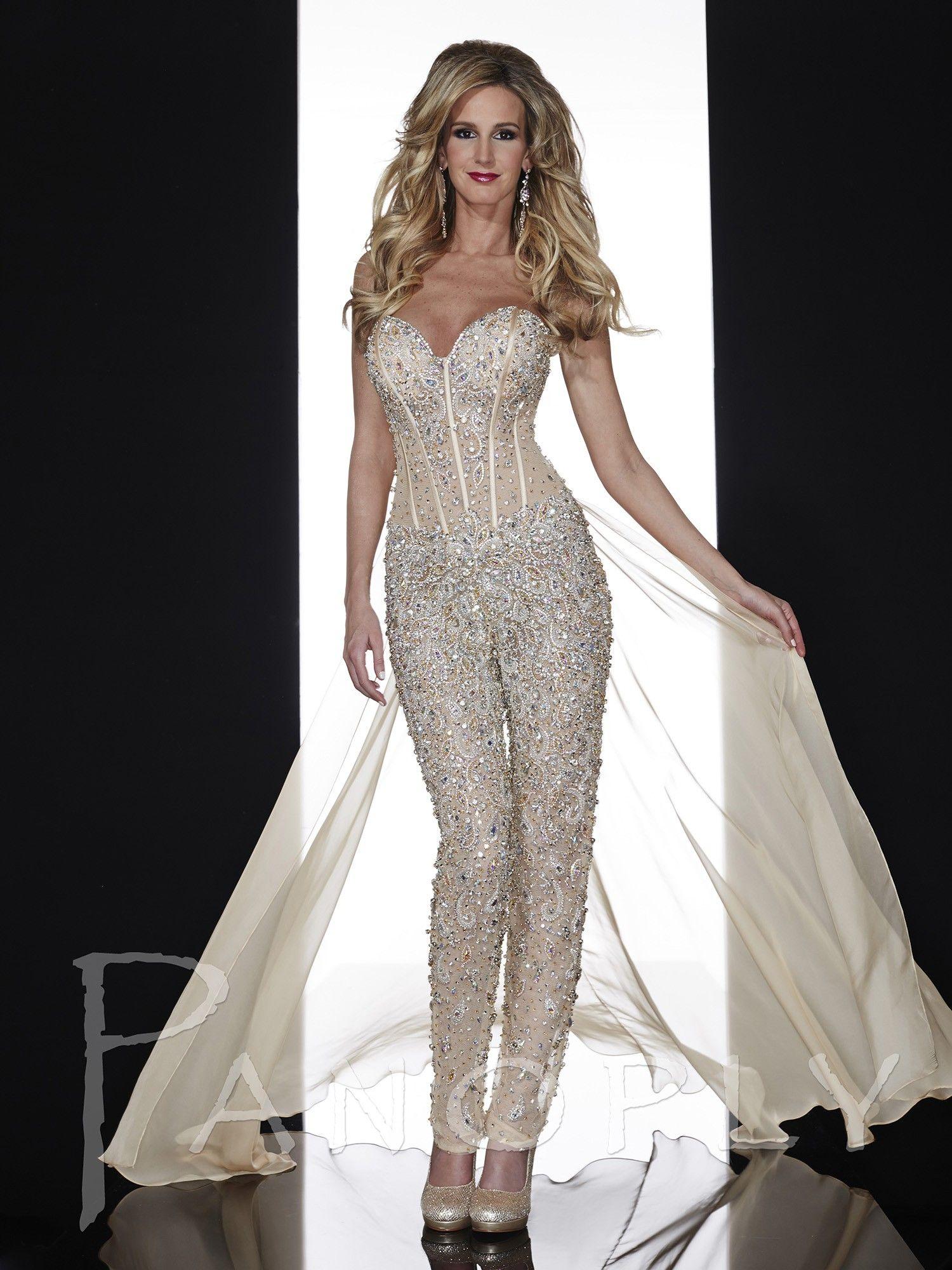 panoply 14607 sexy corset dress evening pants suit