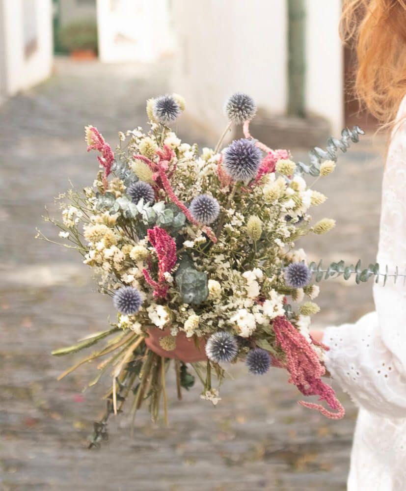 Comment Faire Secher Une Rose Fraiche bouquet de fleurs séchées calella - rosa cadaqués | fleurs