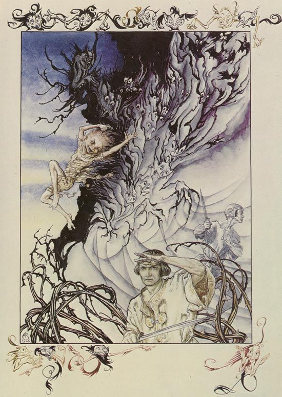Puck and Lysander from A Midsummer Night's Dream by Arthur Rackham at Art Passions