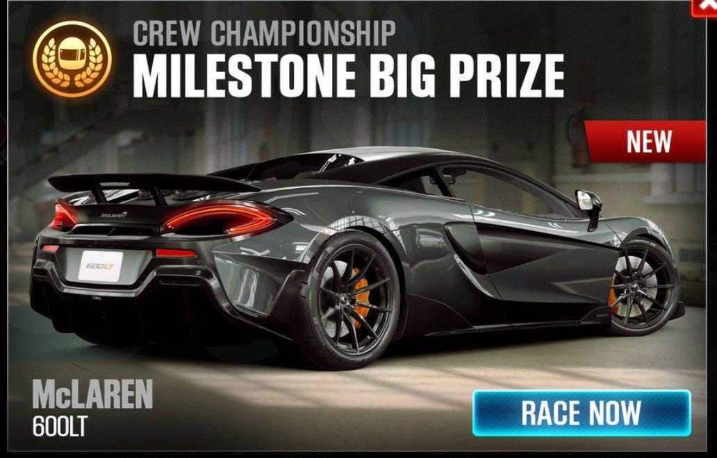 The McLaren 600LT is the season 67 prize car in CSR Racing 2