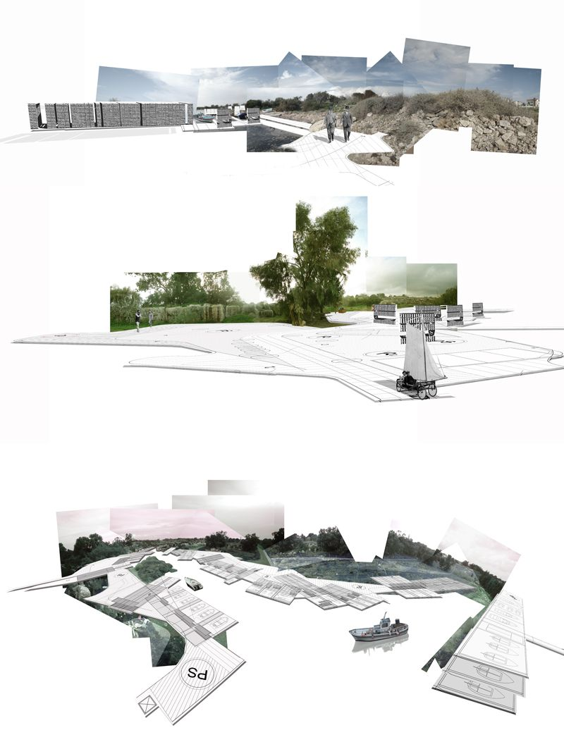 Landscape Architecture Perspective Drawings super cool take on a perspective-ish representation